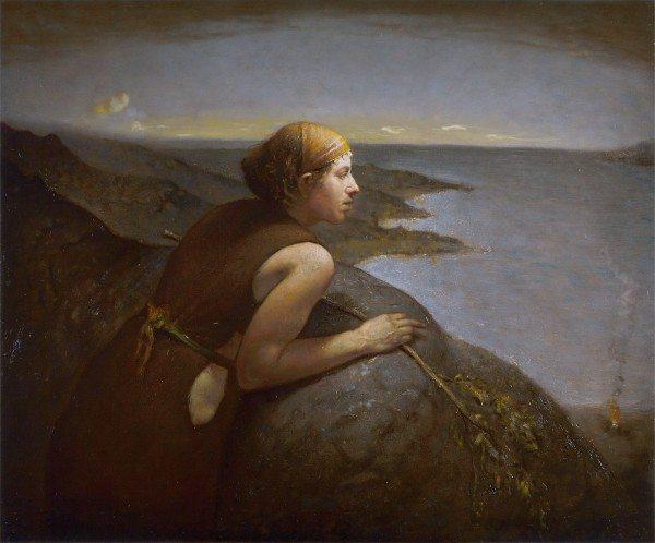 Resim Sergisi: Kayaya Dayanan Kız